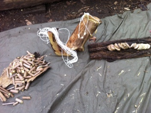 Lesson set up, whittling and pendant making