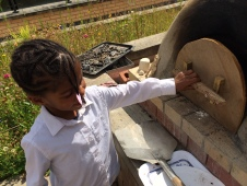 opening the cob oven